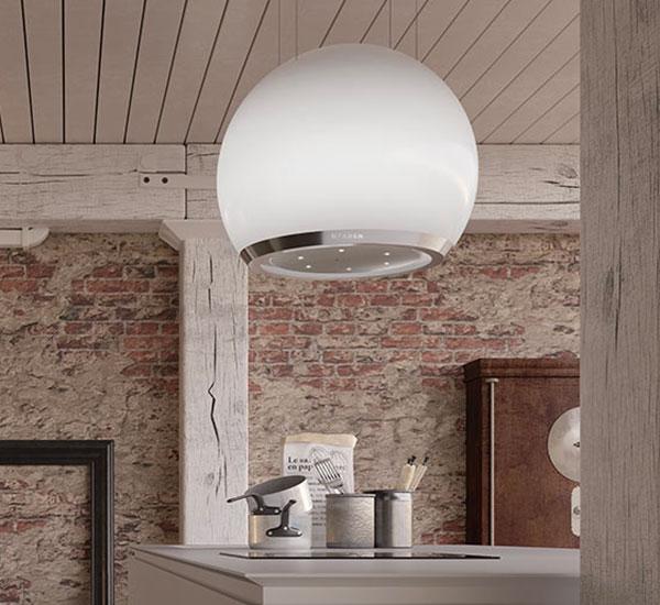 ARKEA PLUS - Η φωτεινή σφαίρα που διακοσμεί την εστια της κουζίνας σας.