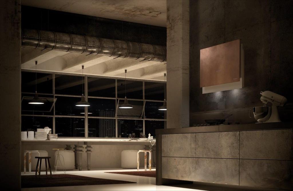 Design furniture show: Faber presents Talìka, the innovative vertical hood, at Eurocucina