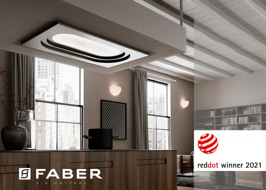 reddot award για τον απορροφητήρα Inside Up από την Faber