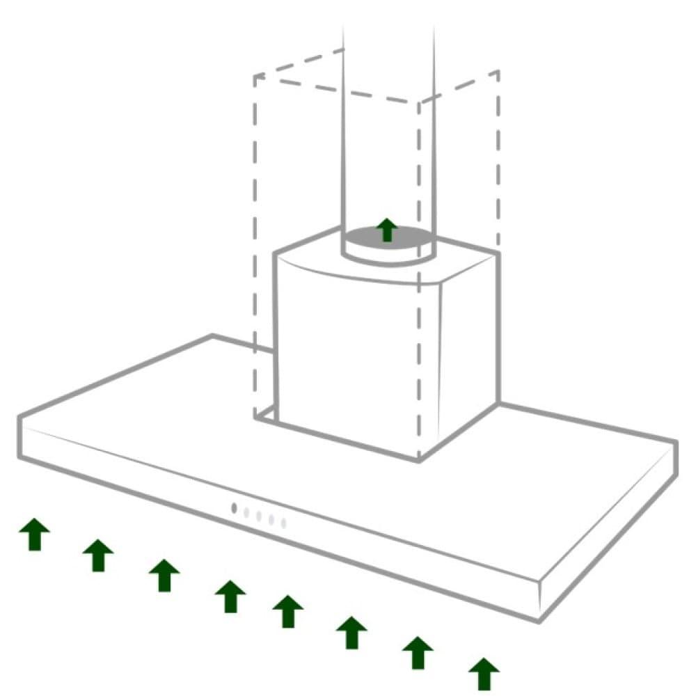 Guida alla scelta della cappa: Installazione aspirante collegata alla canna fumaria