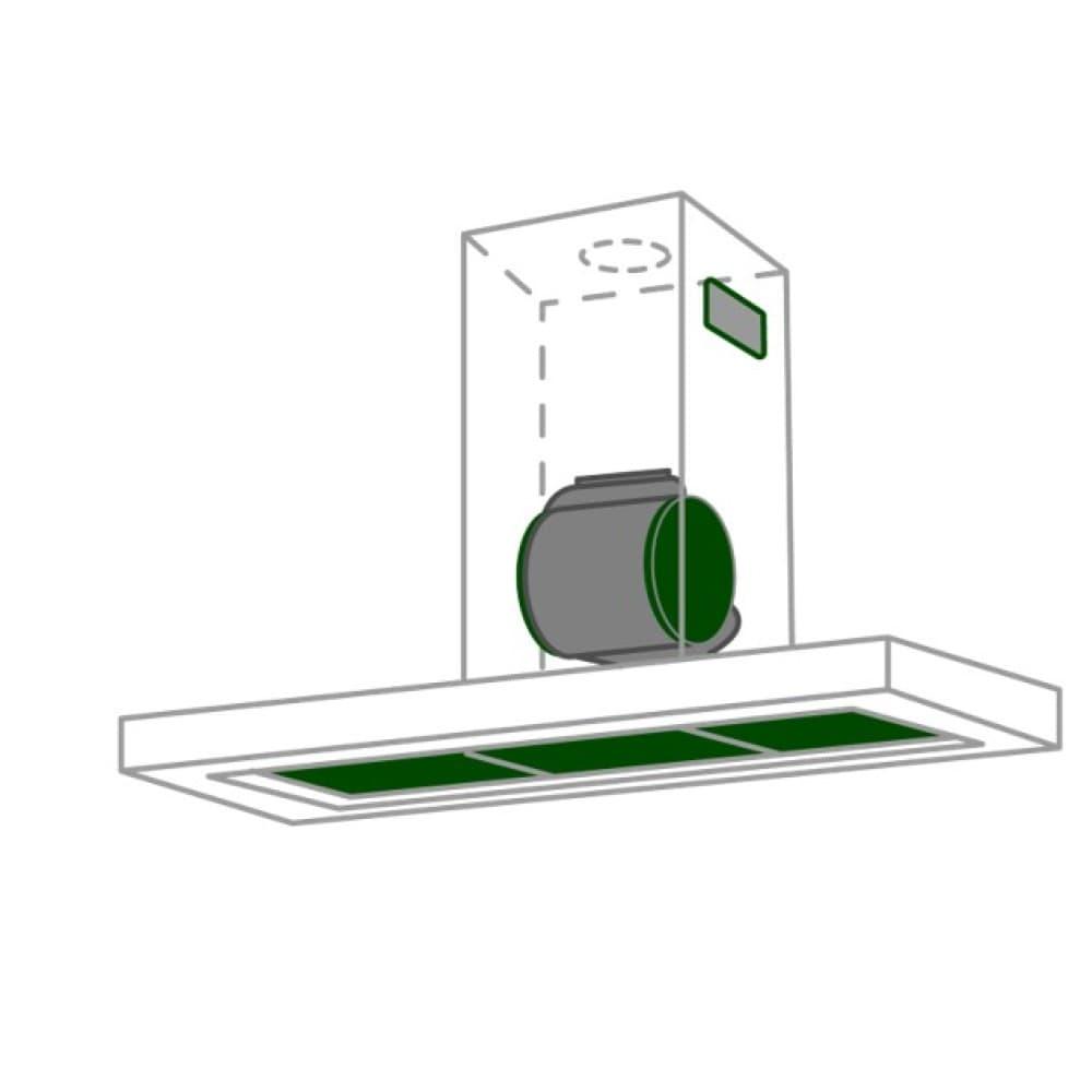 Guida alla scelta della cappa: Installazione filtrante con filtri carbone e anti grasso
