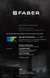 Faber protagonista della Bologna Design Week con un evento sull'inquinamento indoor