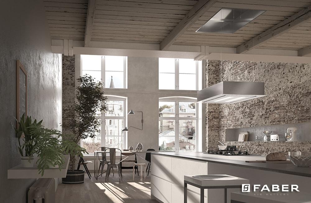 Cucina Soffitti Alti : A che altezza si monta la cappa da cucina faber