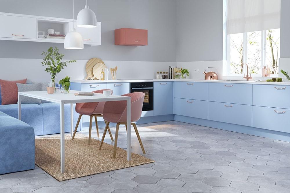 Color blocking: arredare e decorare la cucina colorata - Faber