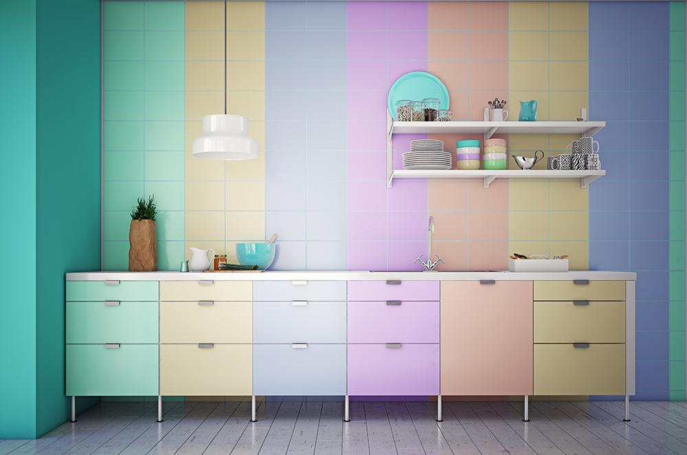 Come decorare la cucina in stile color block - Faber