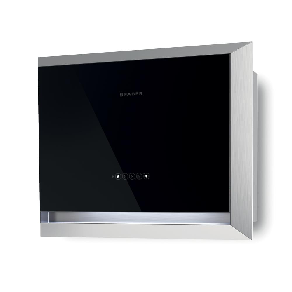 TWICE Cappa  Versione: Acciaio inox / vetro nero