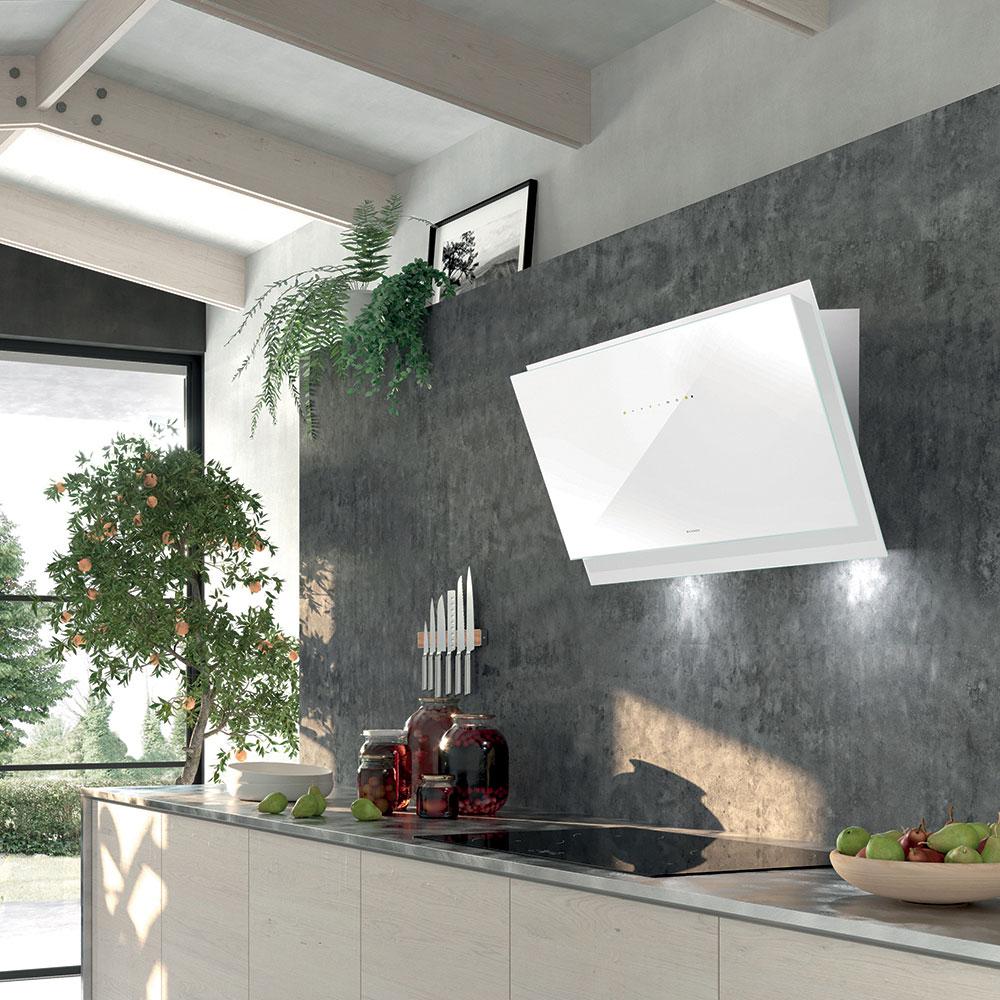 BLACK TIE   Versione: Acciaio inox / vetro bianco